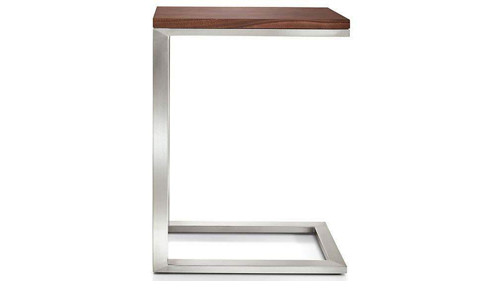 Parsons Walnut Top/ Stainless Steel Base 20x12 C Table