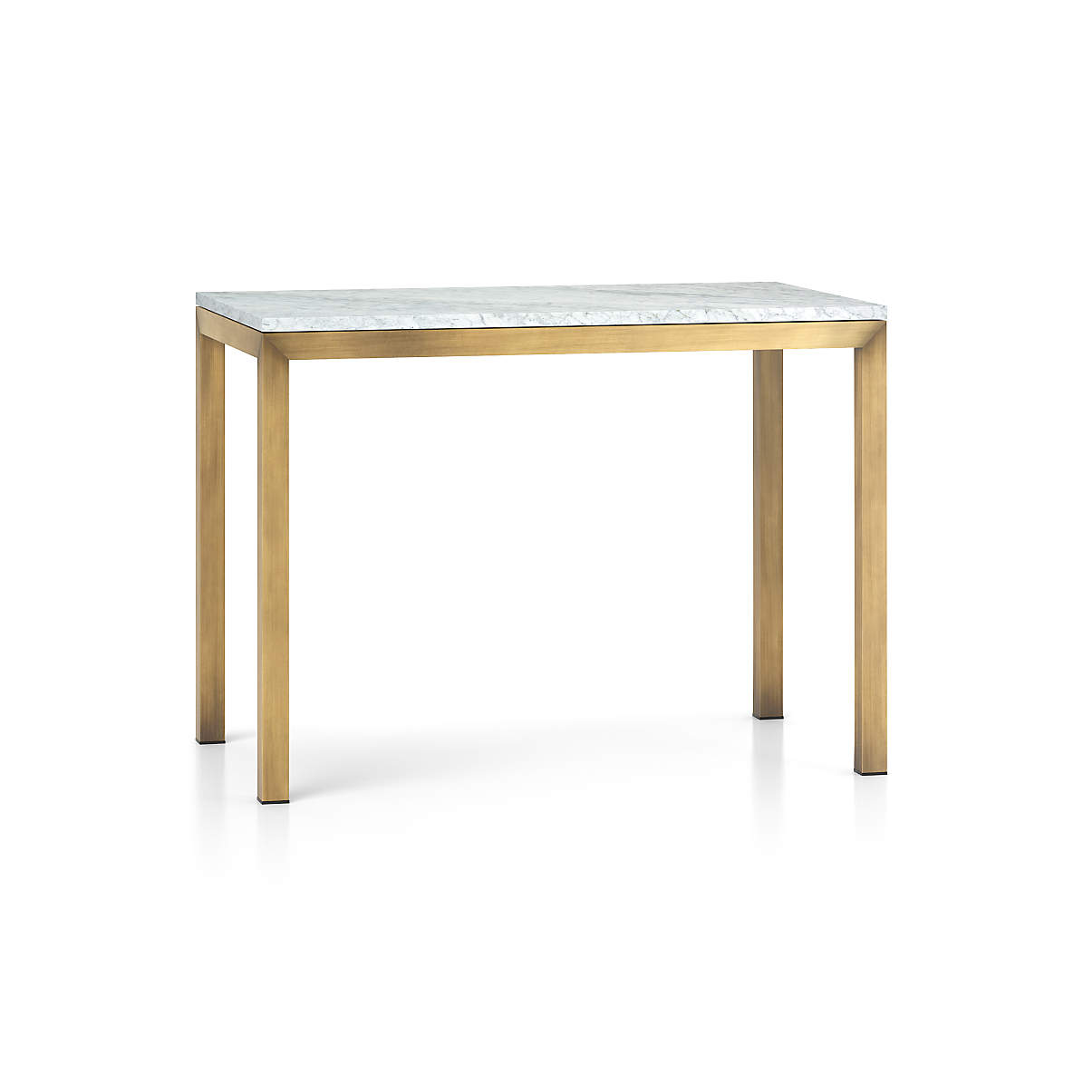 Parsons White Marble Top Brass Base Dining Tables Crate And Barrel
