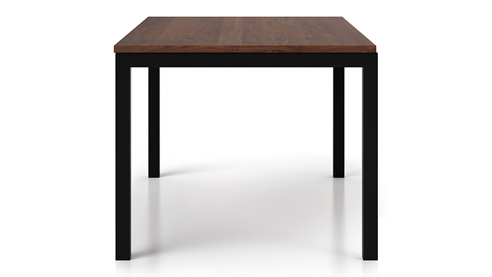 Parsons Walnut Top/ Dark Steel Base 48x28 High Dining Table