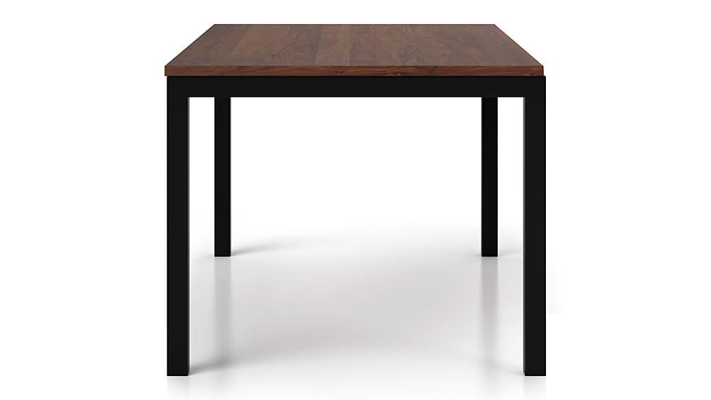 Parsons Walnut Top/ Dark Steel Base 48x28 High Dining Table