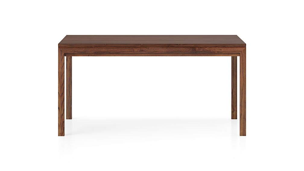 Parsons Walnut Top/ Elm Base 60x36 Dining Table