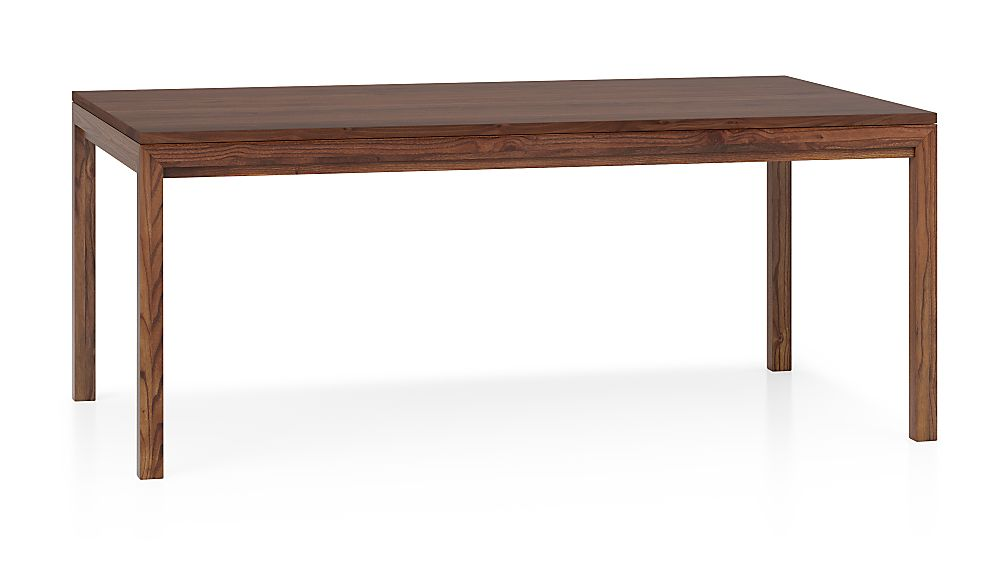 Parsons Walnut Top/ Elm Base 72x42 Dining Table