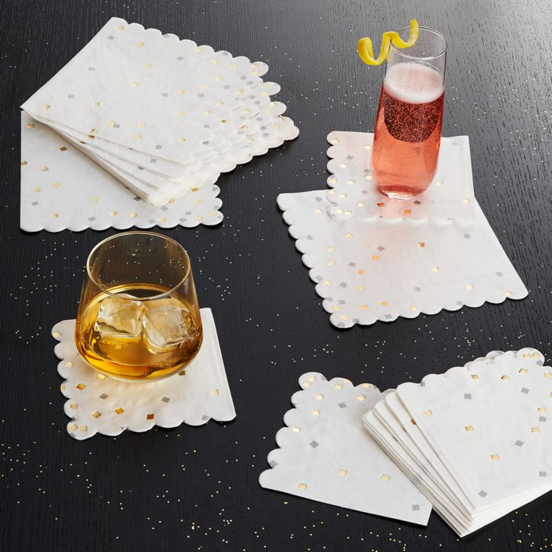 Party Confetti Large Paper Napkins, Set of 16