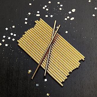 Party Gold Foil Straws, Set of 24