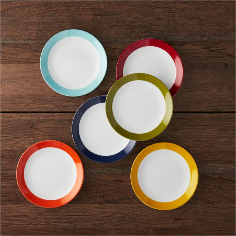Party Plates Set Of 6 In Appetizer Amp Dessert Plates