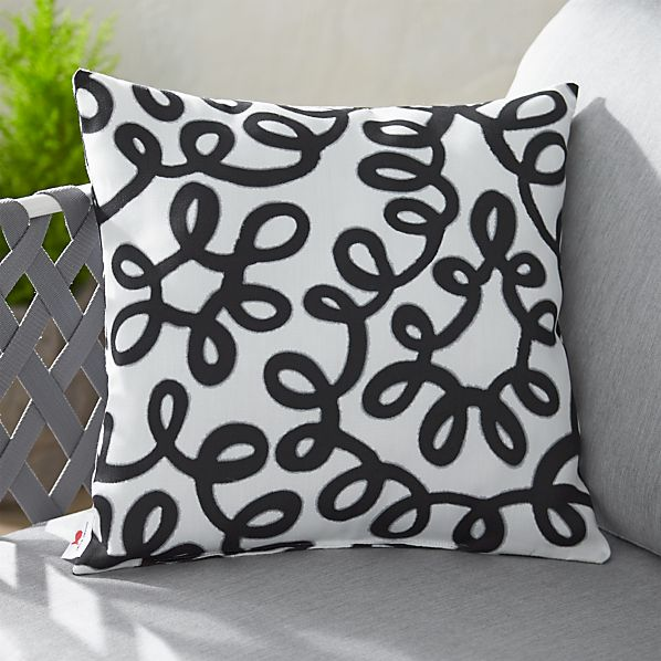 "Party Squiggle 20"" sq. Outdoor Pillow"