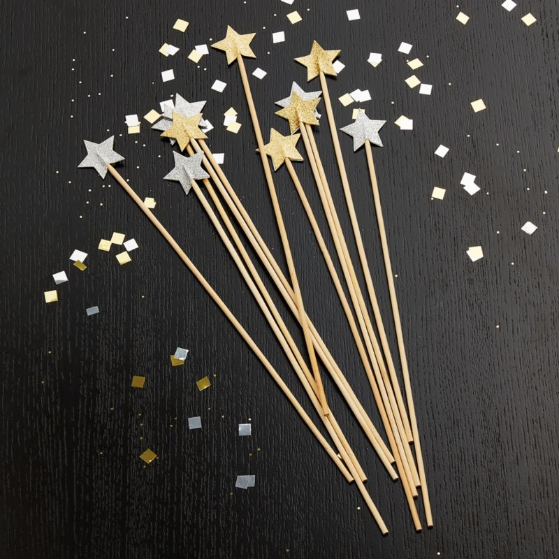 Party Star Swizzle Sticks, Set of 12