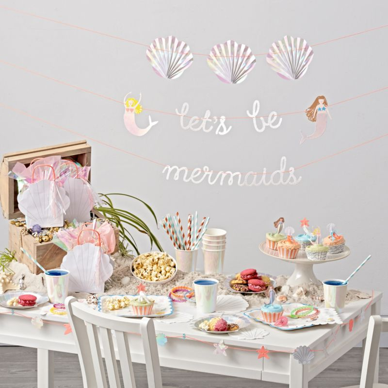 Meri Meri Mermaid Party Decorations Crate And Barrel