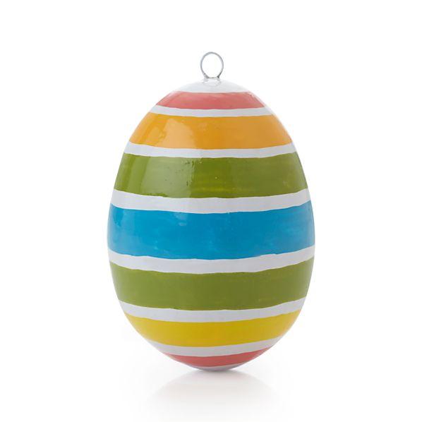 Pastel Stripe Design Egg
