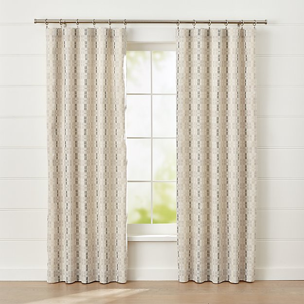 Pastore Neutral Curtain Panel - Image 1 of 7