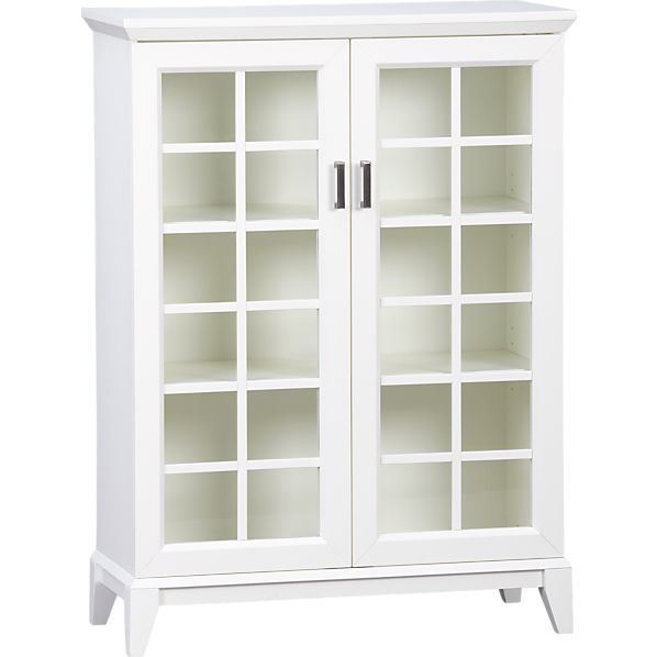 "Paterson White 36.5"" Two-Door Cabinet"