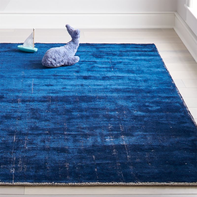 Blue Patina Kids Area Rug Crate And Barrel