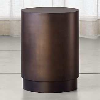 Patina Bronze Drum Table