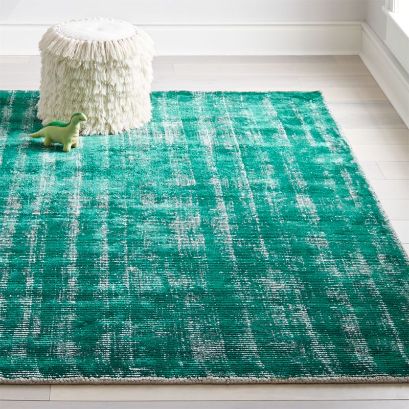 Green Patina Kids Area Rug Crate And Barrel