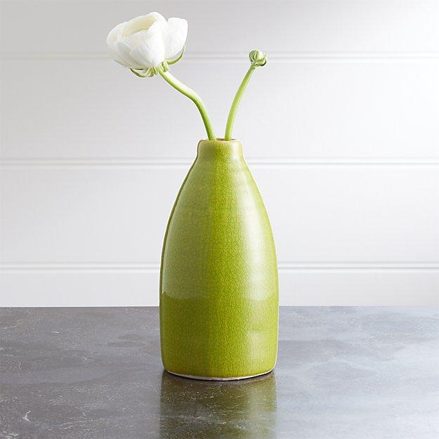 Patine Bottle Ceramic Bud Vase - Image 1 of 2