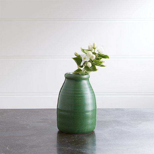 Patine Jar Ceramic Bud Vase - Image 1 of 2