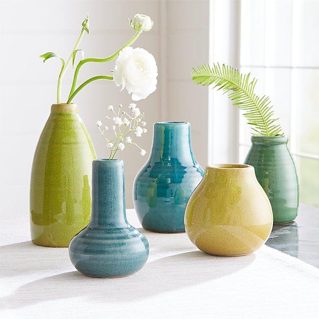 Patine Bud Vases - Image 1 of 8