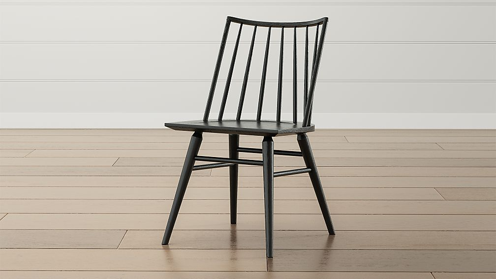 Paton Black Oak Windsor Dining Chair - Image 1 of 9