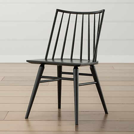 Paton Black Oak Windsor Dining Chair Crate And Barrel