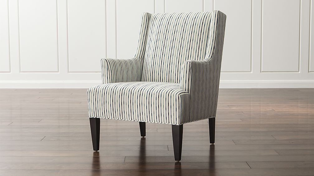 Patrice Striped Wingback Chair