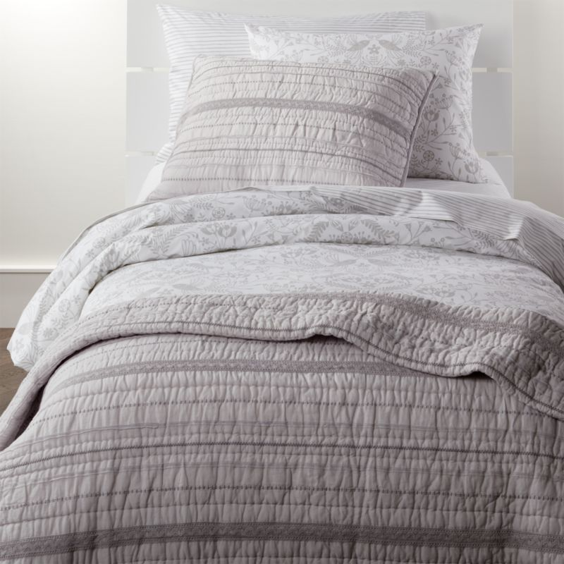 Pattern Play Grey Floral Full Queen Duvet Cover Crate