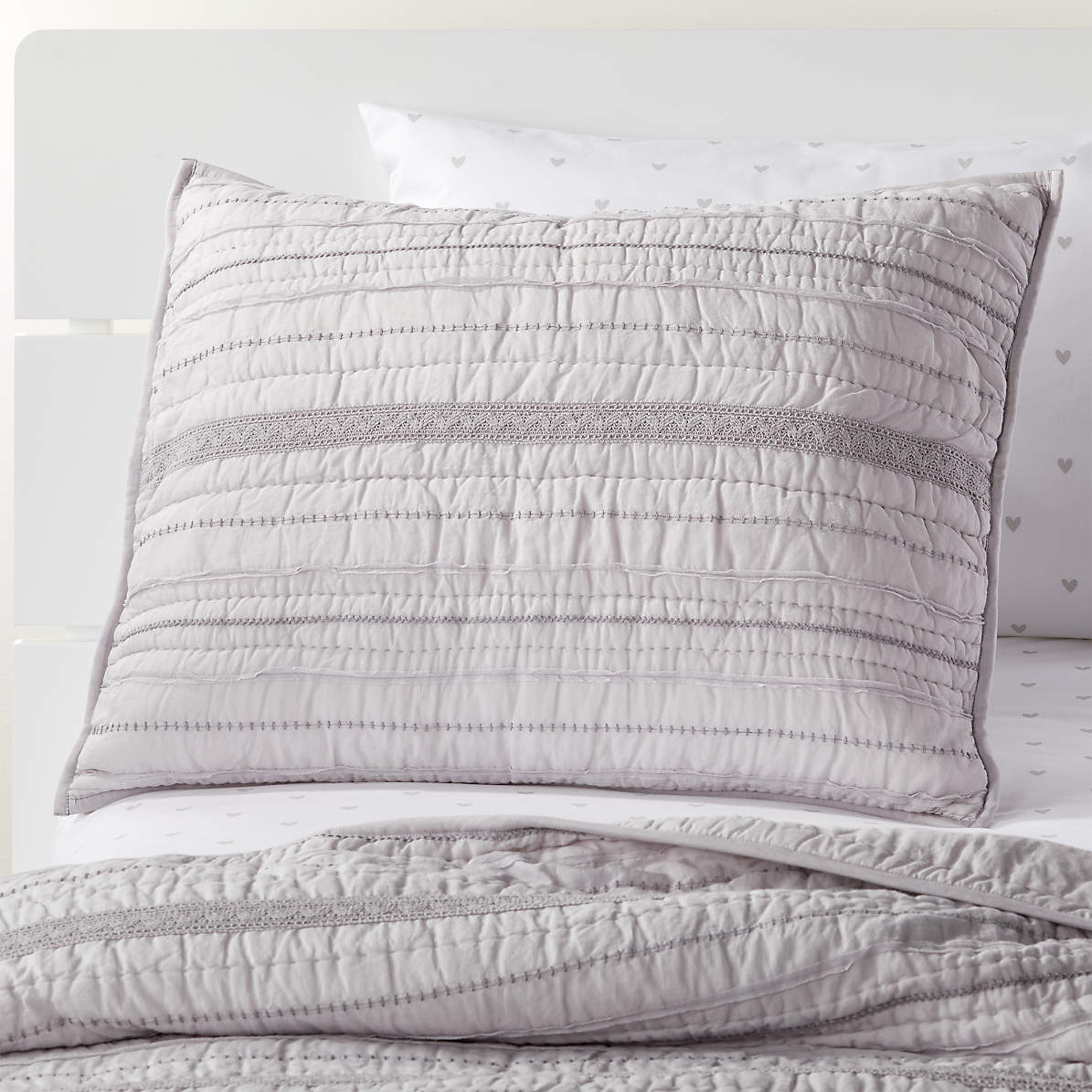 Pattern Play Grey Pillow Sham Reviews Crate And Barrel