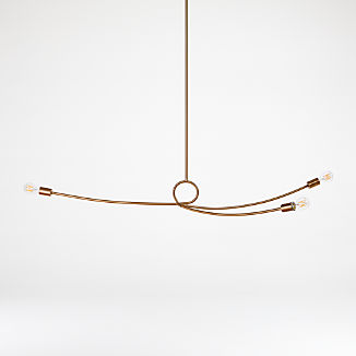 Paula Brass Sculptural Pendant Light