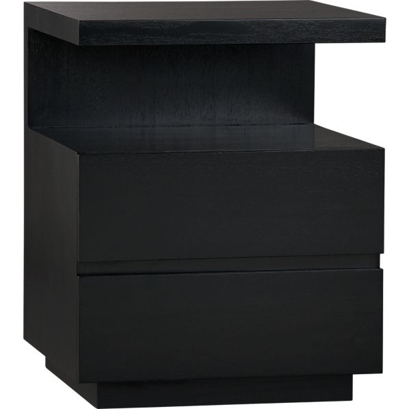 Pavillion Black Nightstand
