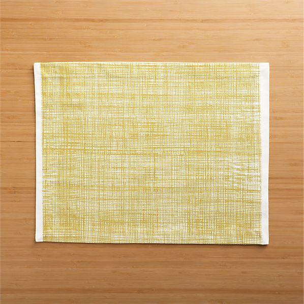 Pavillion Mustard Placemat