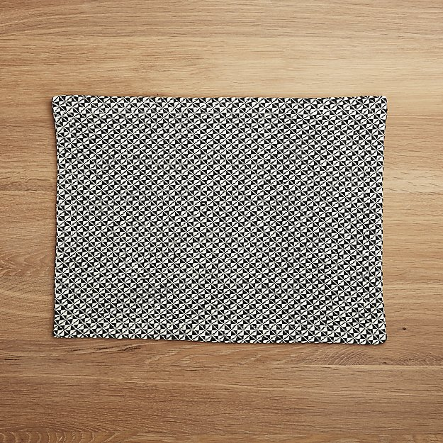 Paxton Grey Diamond Placemat - Image 1 of 4