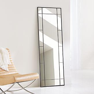 Payne Black Window Floor Mirror