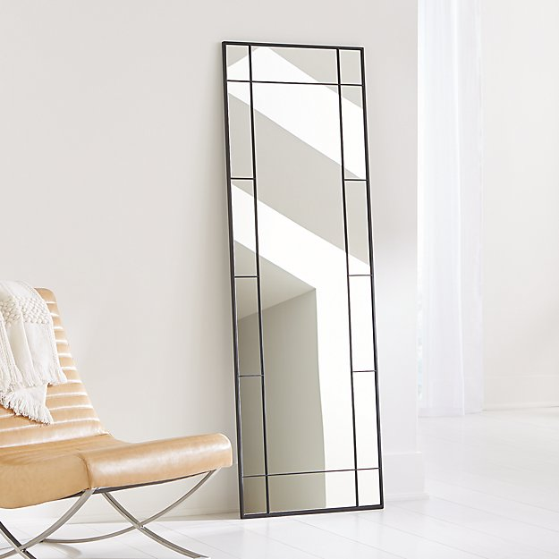 Payne Black Window Floor Mirror - Image 1 of 3