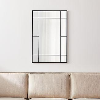 Payne Black Window Wall Mirror
