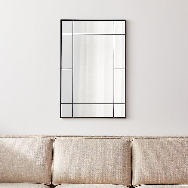 Payne Black Window Wall Mirror - Image 1 of 7