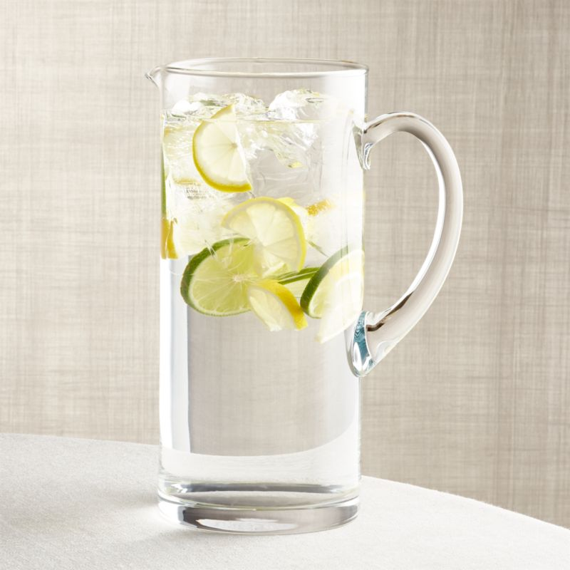 Peak 86 Oz Glass Pitcher Reviews Crate And Barrel