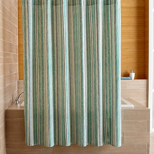 pearl strings shower curtain crate and barrel. Black Bedroom Furniture Sets. Home Design Ideas