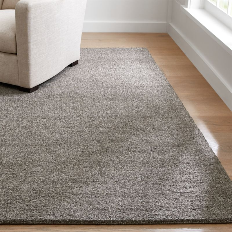 Pebble Grey Area Rug Crate and Barrel