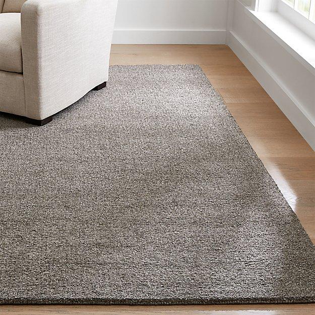 Pebble Grey Wool-Blend Rug