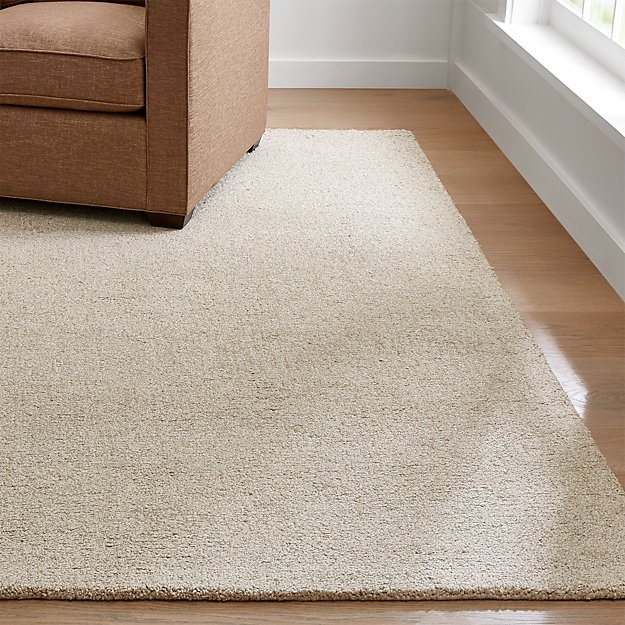 Pebble Ivory Wool-Blend Rug