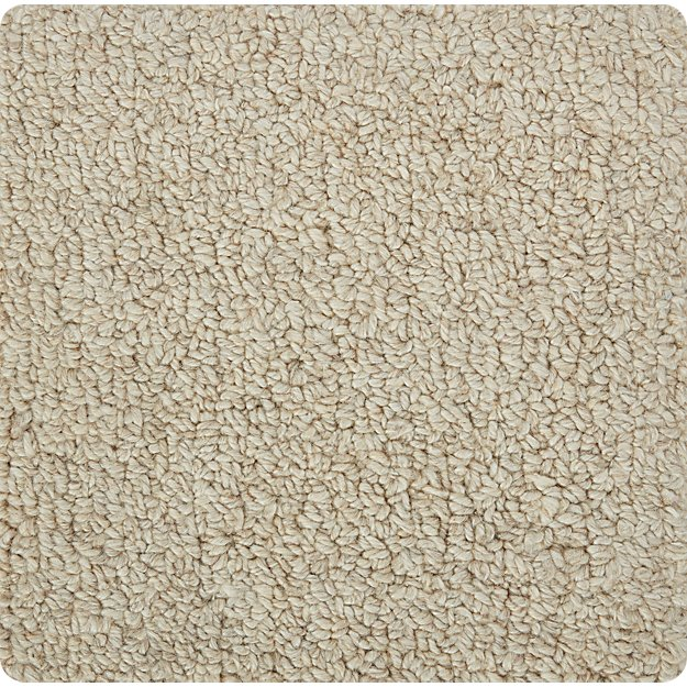 "Pebble Ivory Wool-Blend 12"" sq. Rug Swatch"