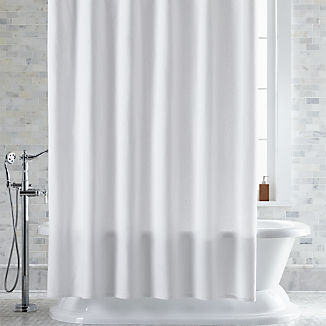 Pebble Matelassé White Shower Curtain