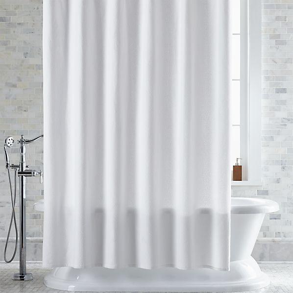 Pebble Matelassé White Shower Curtain