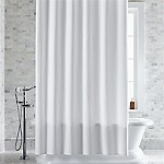 Pebble Matelassé White Extra-Long Shower Curtain