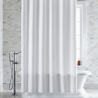 Pebble Matelé White Extra Long Shower Curtain