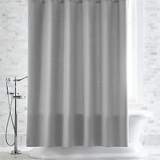 Pebble Matelassé Grey Shower Curtain