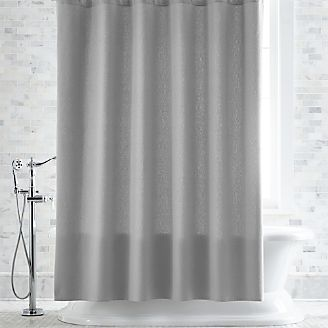 pebble matelass grey shower curtain