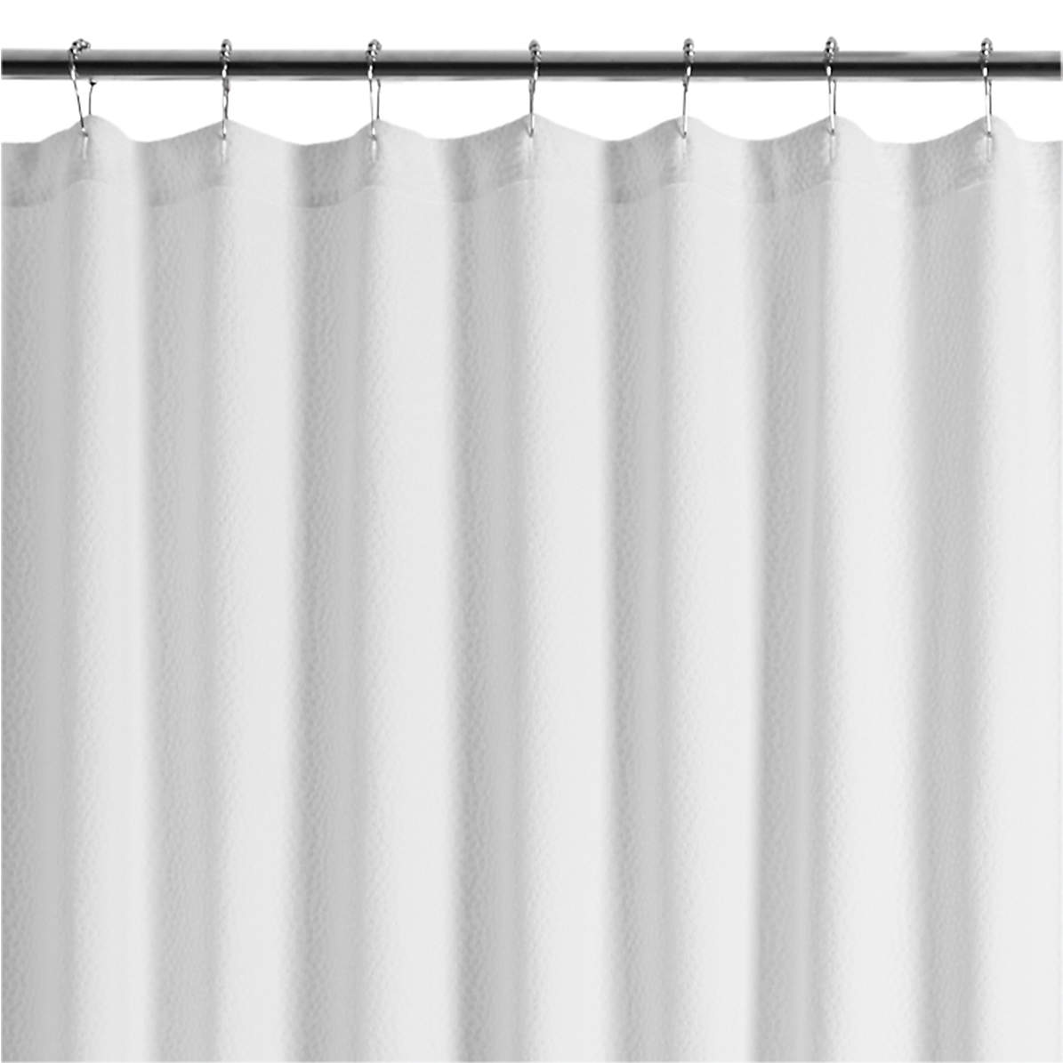 Pebble Matelasse White Extra Long Shower Curtain Reviews Crate And Barrel