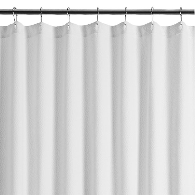 Pebble Matelasse White Extra Long Shower Curtain Reviews