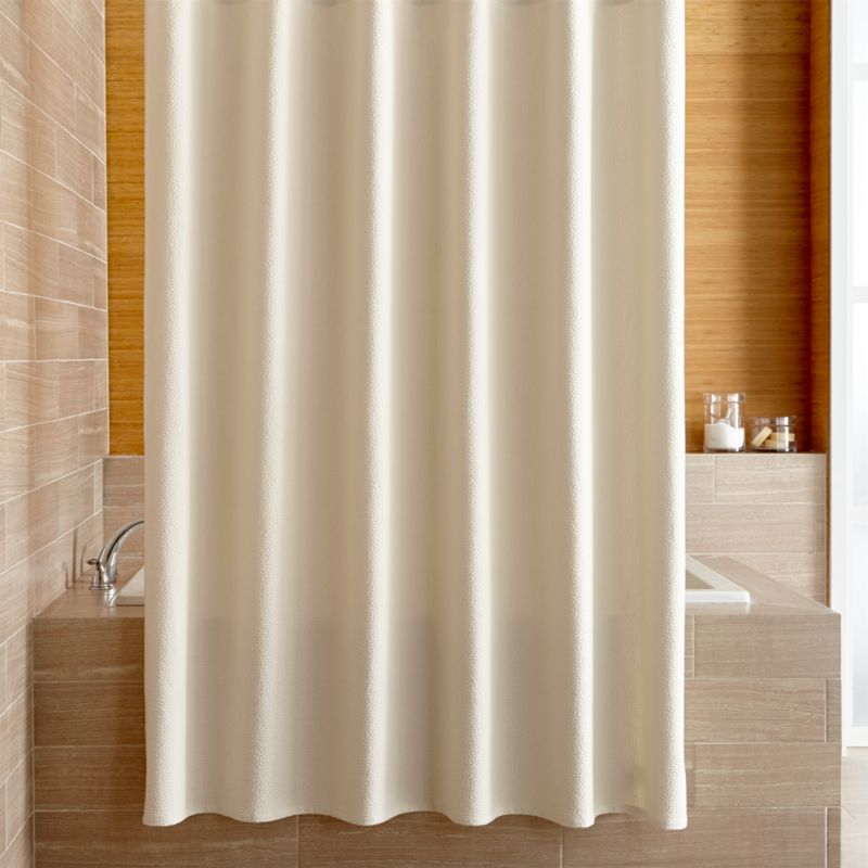 Pebble Matelass Oyster Shower Curtain Crate And Barrel
