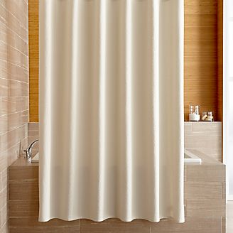 Pebble Matelass Oyster Shower Curtain